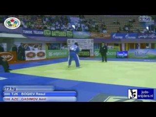 ������!!! ����� ������ (Tajik) - ���� �������(Azer) Judo 2010 Grand Prix Tunis [-73kg]